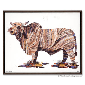 thumbnail for Brahman Bull Wood Print with Float Frame