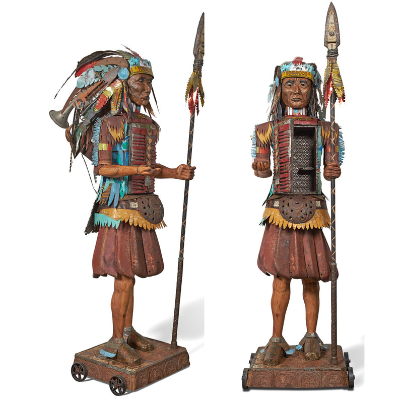 main image for Sentinel 8' Tall Native American Original 3D Sculpture