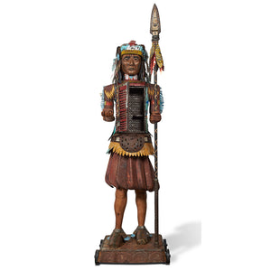 thumbnail for Sentinel 8' Tall Native American Original 3D Sculpture