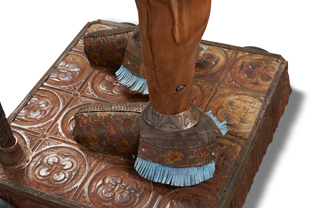 Sentinel 8' Tall Native American Original 3D Sculpture