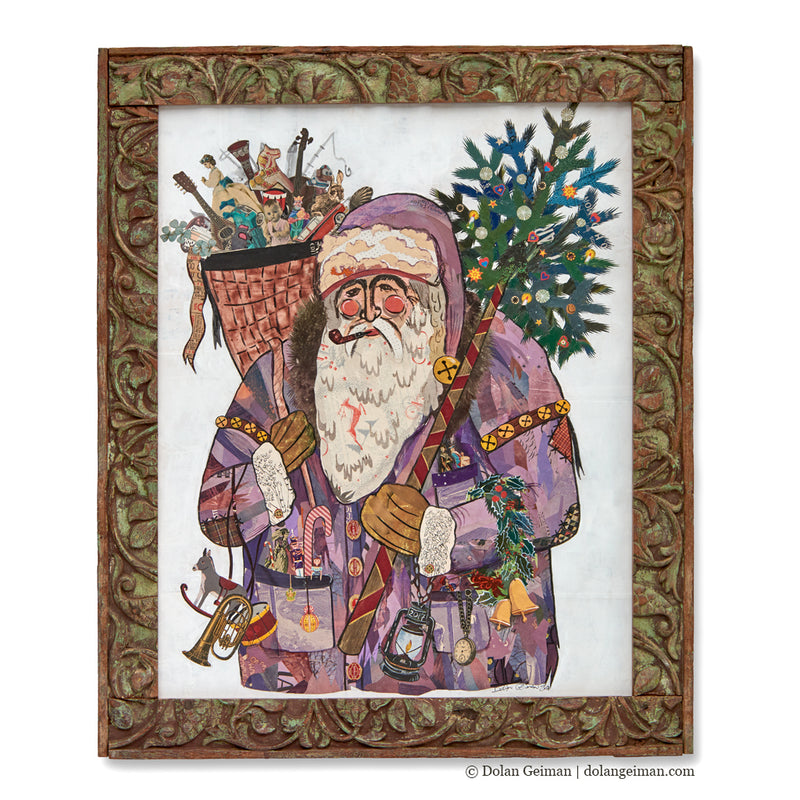 main image for St. Nicholas Santa Claus Original Paper Collage