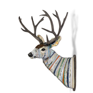 thumbnail for Custom Great Plains Buck Deer Faux Taxidermy Metal Wall Sculpture