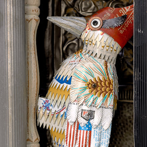 thumbnail for Metal Woodpecker in Mailbox Wall Sculpture
