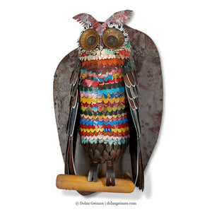 thumbnail for Colorful Owl Sculpture