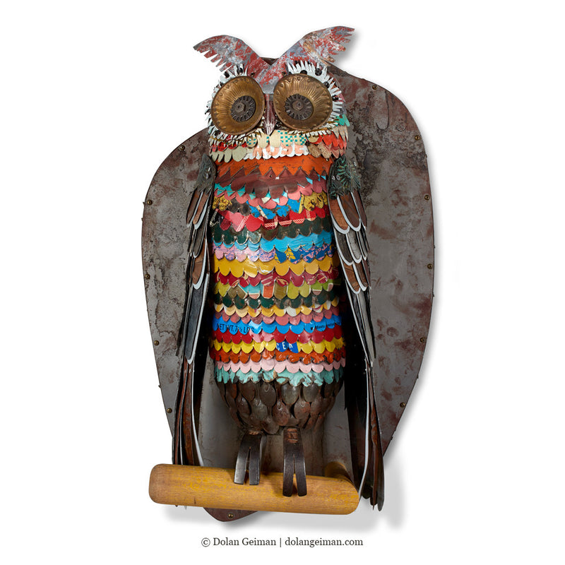 main image for Colorful Owl Sculpture