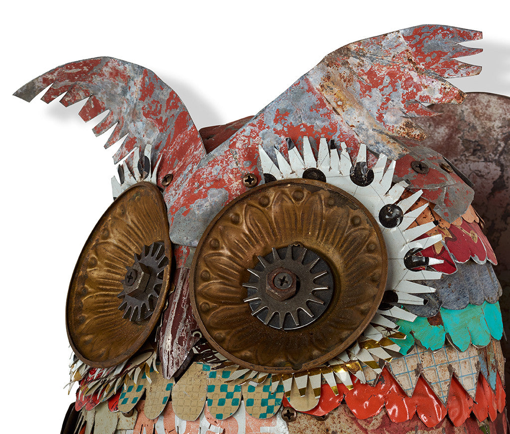 Colorful Owl Sculpture