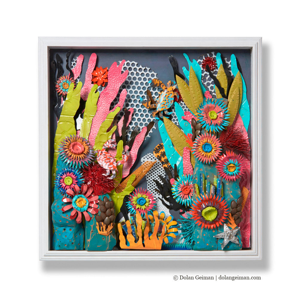 coral reef wall sculpture