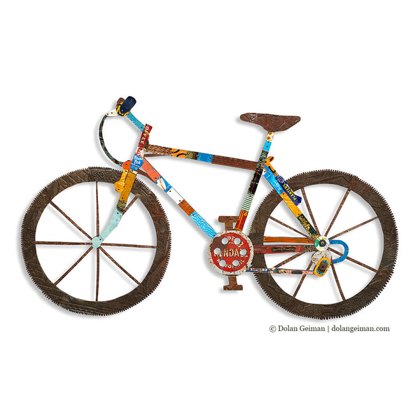 d920558a4b8 Mountain Bike Wall Art Sculpture | Dolan Geiman