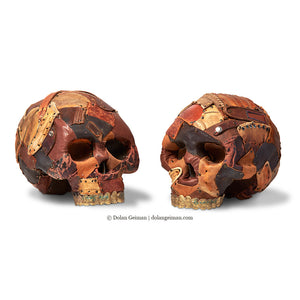 thumbnail for Early Man Part II Leather Skull Sculptures