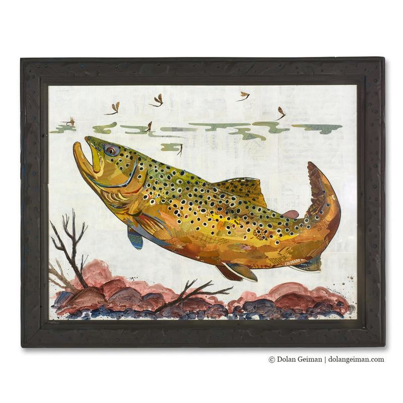 main image for 2017 Trout Series: Brown Trout Paper Collage