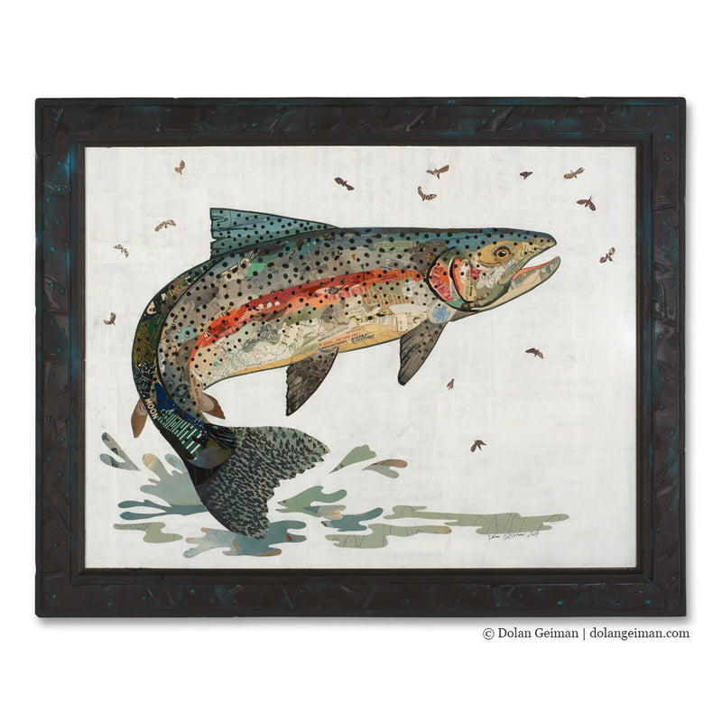 main image for 2017 Trout Series: Rainbow Trout Paper Collage