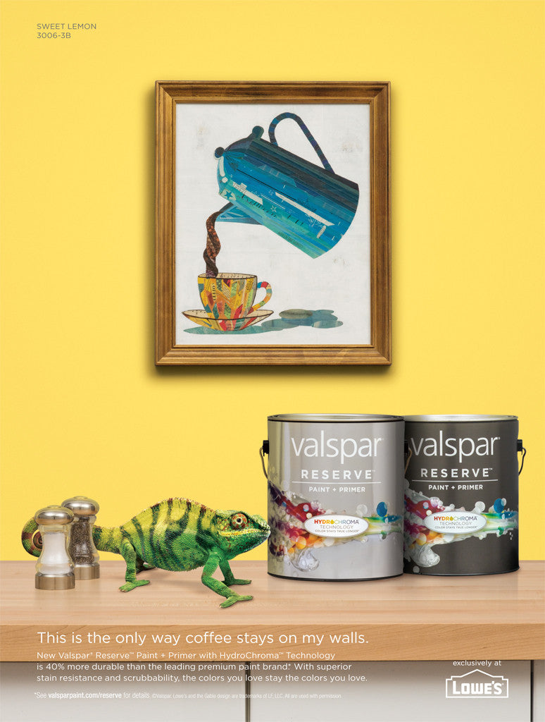 Valspar Paint Advertisement Illustration