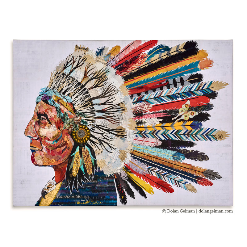 main image for Dream Talker Native American Canvas Art Print