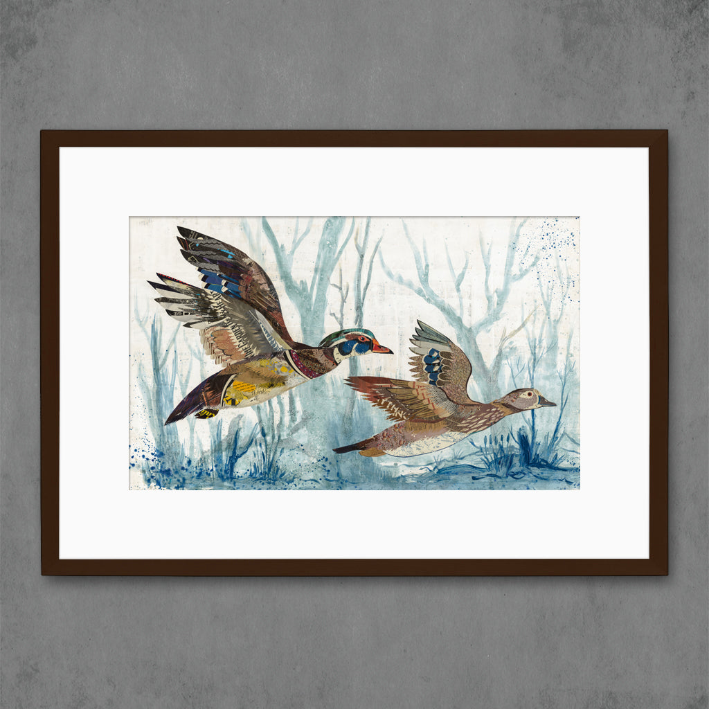 Wood Ducks Art Print