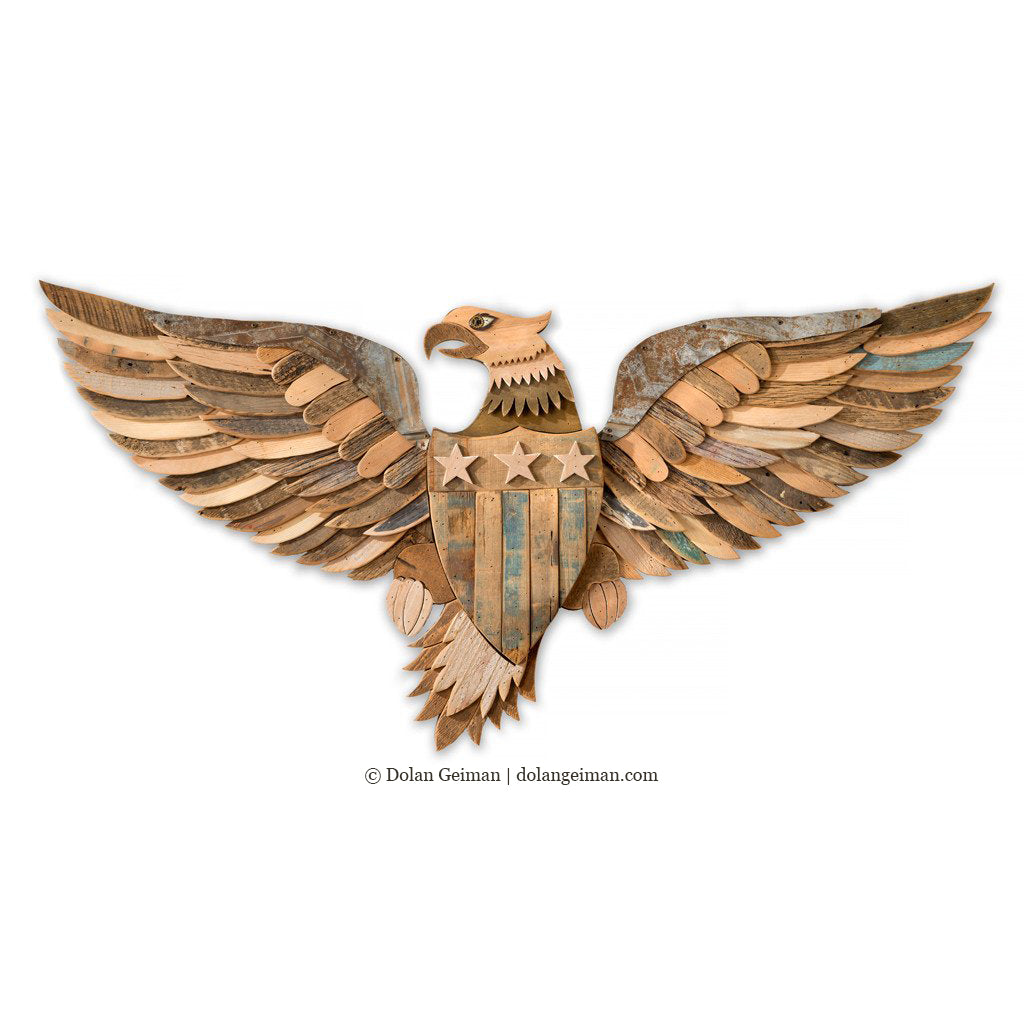 Patriotic Eagle Wall Sculpture