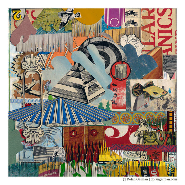 Egyptian Circus Mixed Media Collage