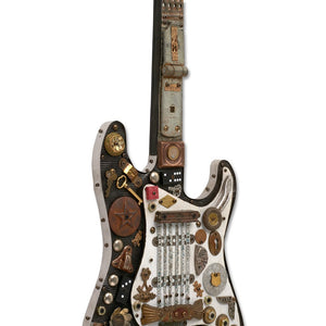 thumbnail for Electric Guitar - Songwriter Souvenir Mixed Media Guitar Art