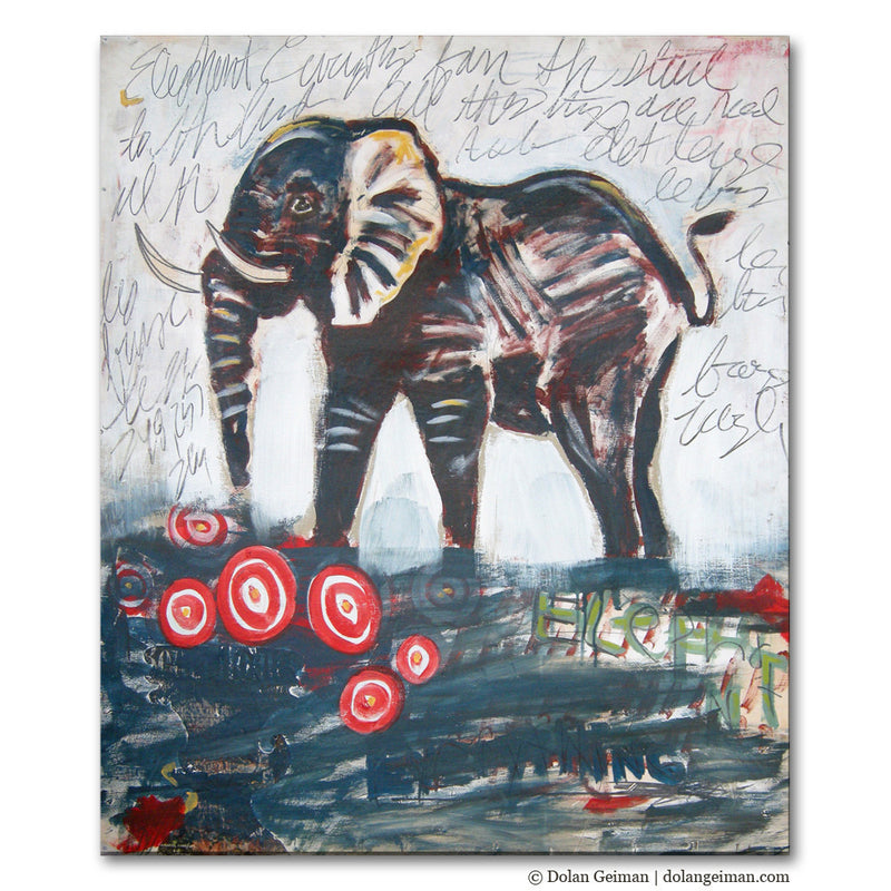 main image for Elephant Everything Painting on Wood