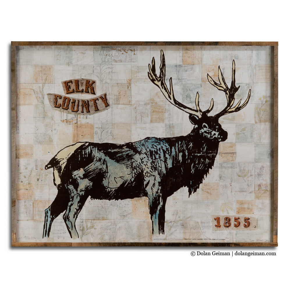 Elk County Large-Scale Mixed Media Art