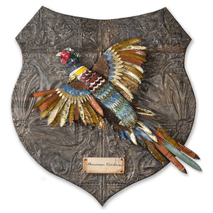 thumbnail for Fall Pheasant Faux Taxidermy Metal Wall Sculpture