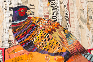 thumbnail for Father Nature (Pheasant) Paper Collage Art