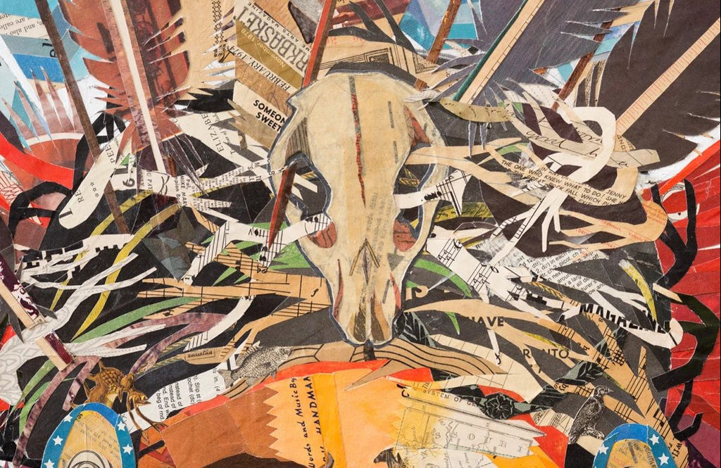 Father Nature Paper Collage Art | Dolan Geiman