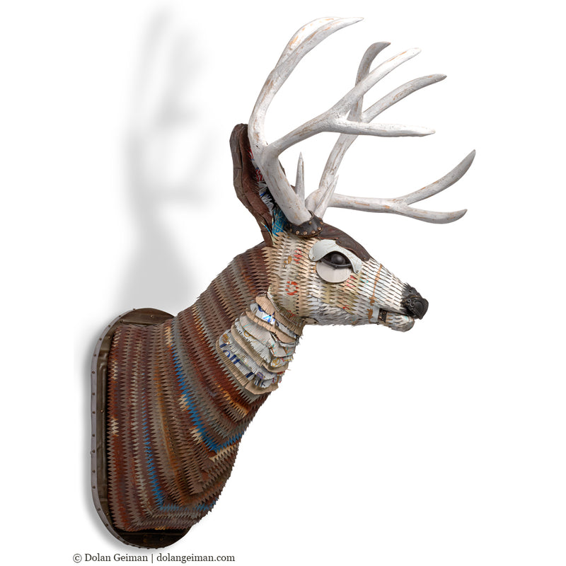 main image for Great Plains Buck Deer Faux Taxidermy Metal Wall Sculpture