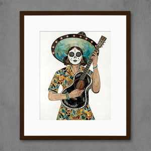thumbnail for Fawn and Phoenix Sugar Skull Portrait Art Print