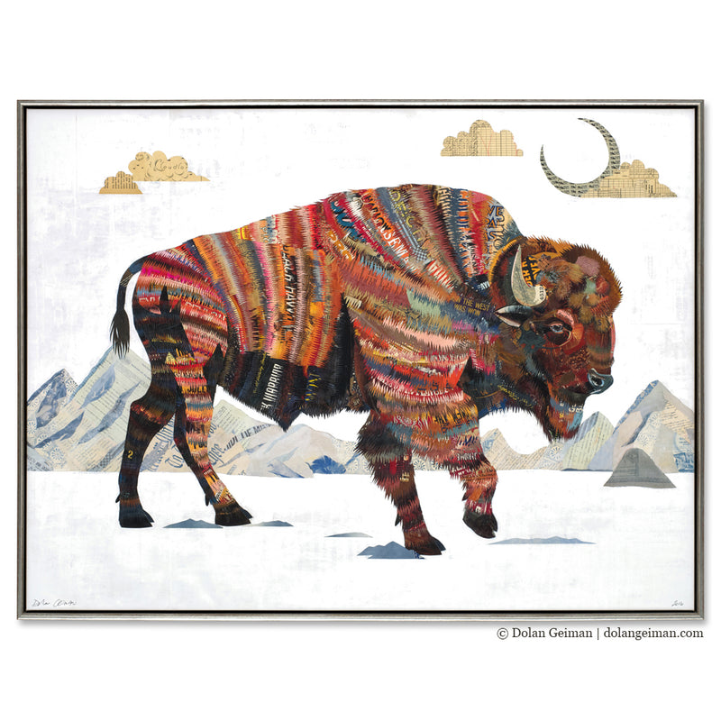 main image for Rest Not Western Herald Bison Art Print with Float Frame