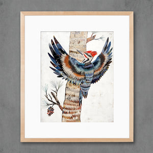 thumbnail for The Great Woodpecker Bird Art Print