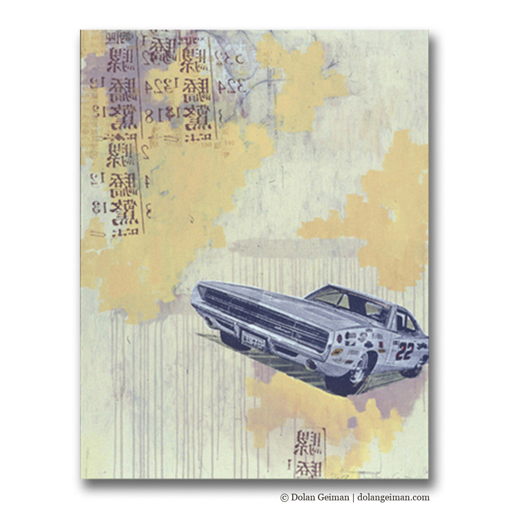 Getaway Silkscreen Car Art