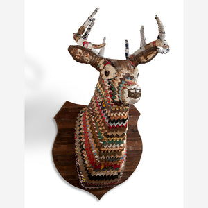 thumbnail for Great Plains Deer Faux Taxidermy Metal Wall Sculpture