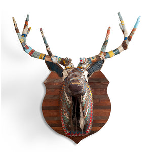 thumbnail for Great Plains Elk Faux Taxidermy Metal Wall Sculpture