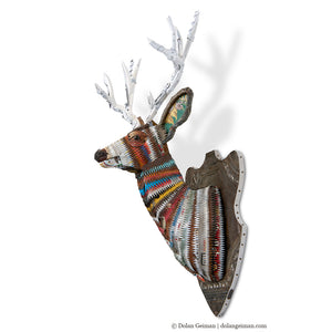 thumbnail for Great Plains Mule Deer Faux Taxidermy Metal Wall Sculpture