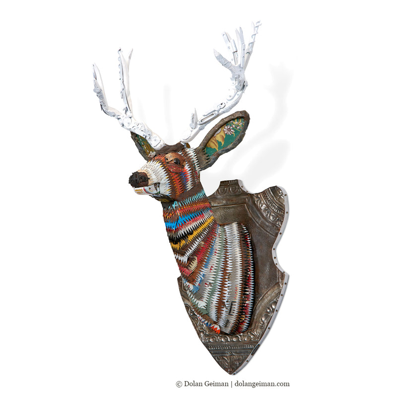 main image for Great Plains Mule Deer Faux Taxidermy Metal Wall Sculpture