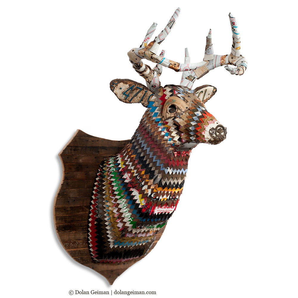 Great Plains Deer Faux Taxidermy Metal Wall Sculpture