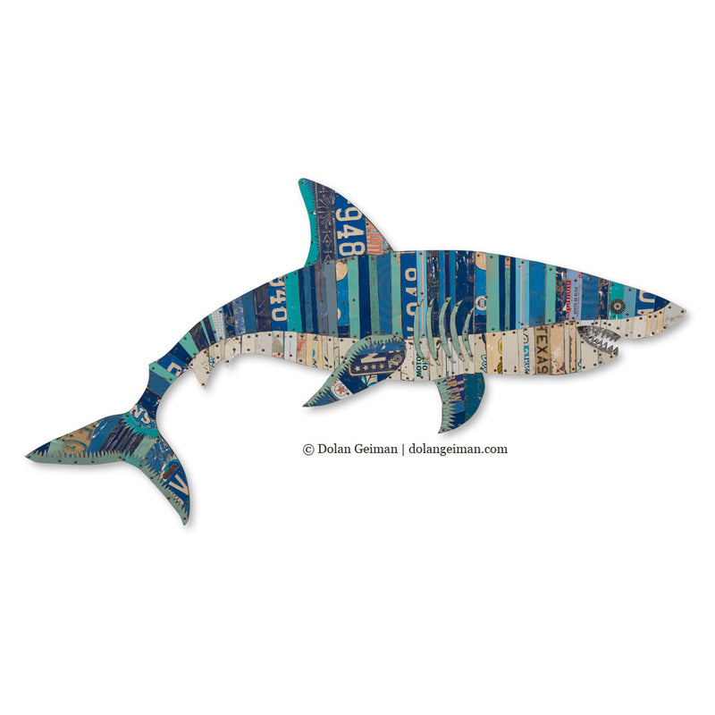 main image for Great White Shark Metal Sculpture