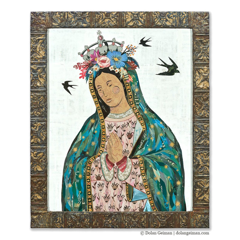 main image for Our Lady of Guadalupe Original Paper Collage Art