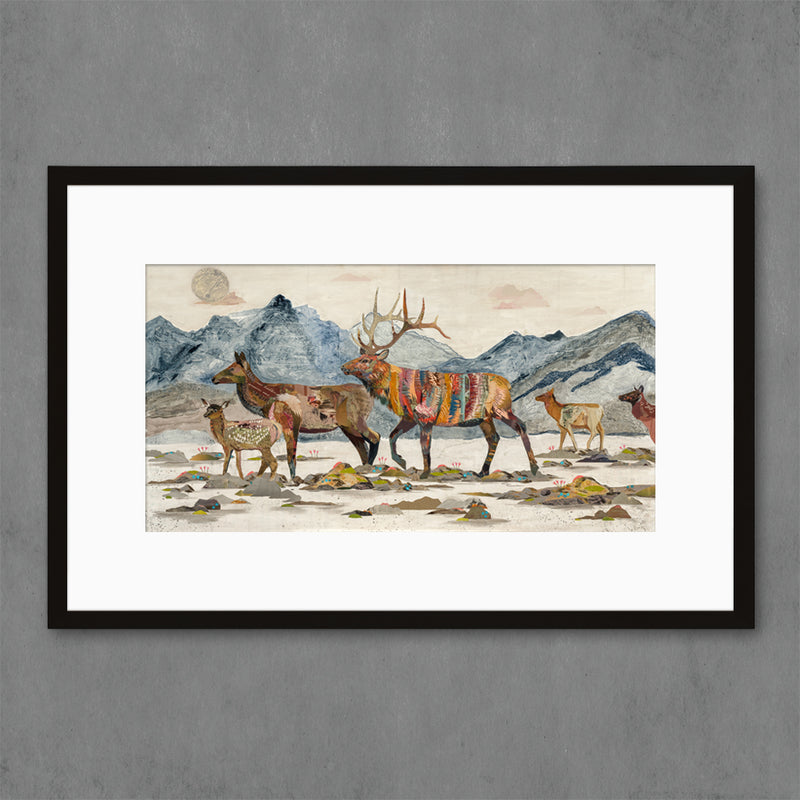 main image for Headed Home Elk Art Print