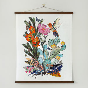 thumbnail for WHSL - Hummingbird with Cactus Art Print