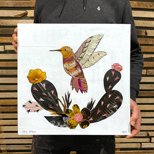 thumbnail for Small Works Event - Small Hummingbird Collage - Original by Dolan Geiman