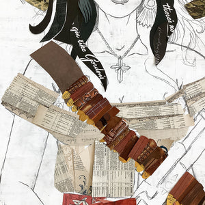 thumbnail for Custom Pistolera Original Paper Collage