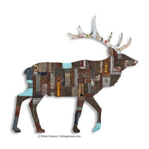 thumbnail for In the Woods Elk Metal Wall Sculpture