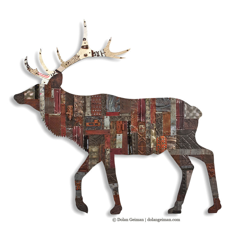 main image for In the Woods Elk Metal Wall Sculpture