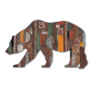 thumbnail for In the Woods California Bear Metal Wall Sculpture