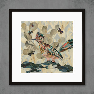 thumbnail for Indigo Morning II Roadrunner and Cactus Bird Art Print