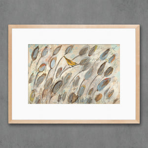 thumbnail for In the Cattails Horizontal Bird Art Print
