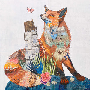 thumbnail for Fox and Aspen Original Paper Collage