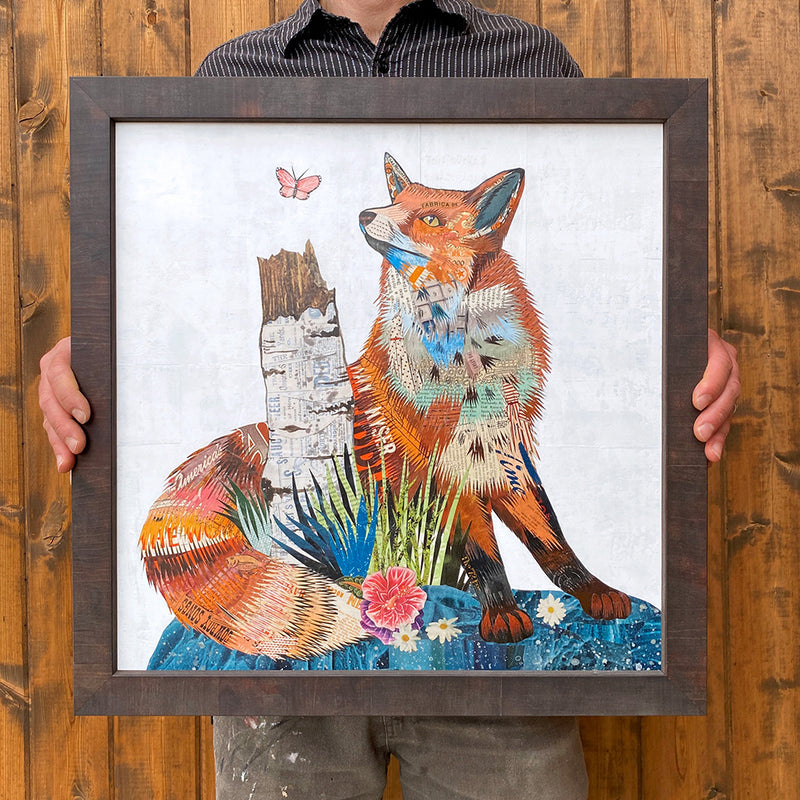 main image for Fox and Aspen Original Paper Collage