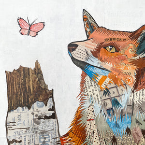 thumbnail for Small Works Event - Fox and Aspen Original Paper Collage